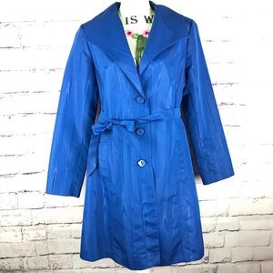 MOSSIMO Blue Lightweight Trench Coat Jacket